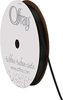 """product image for Offray 1/16"""" Wide Double Face Satin Ribbon, 50 Yards, Black"""