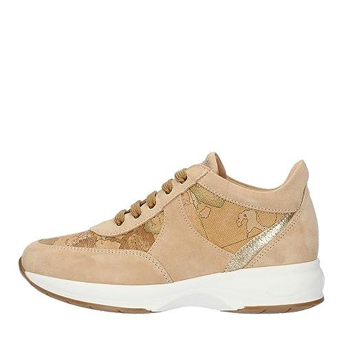 6c4b40676e ALVIERO Martini 1°Classe Geo Crossing Z9810 551B Sneakers Scarpe Donna  Natural