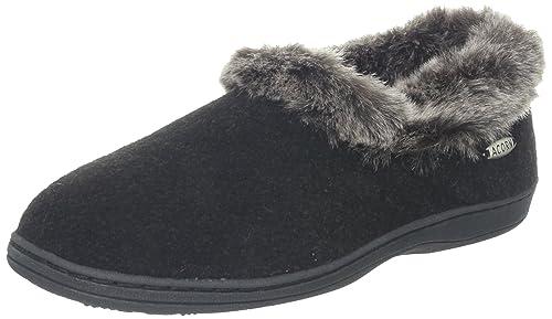 13a21343efd Acorn Women s Faux Chinchilla Collar Slipper  Amazon.ca  Shoes ...