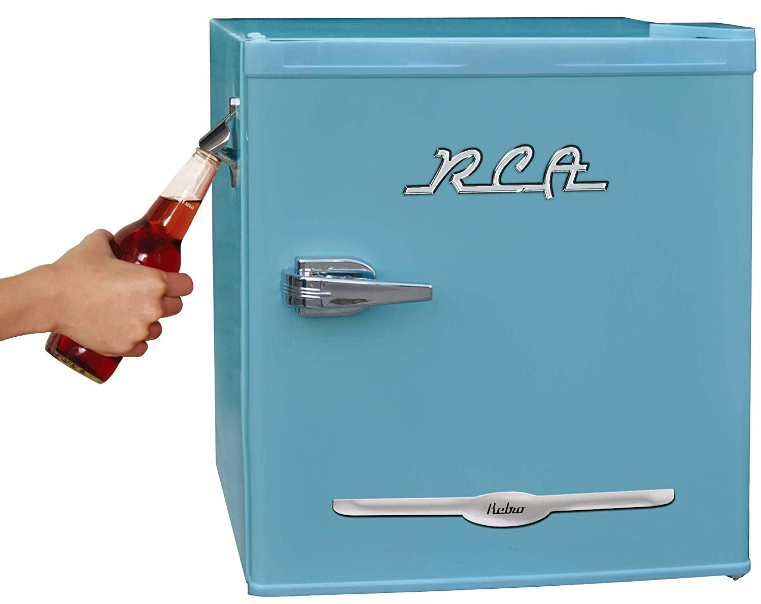 Retro Bar Fridge with Side Bottle Opener
