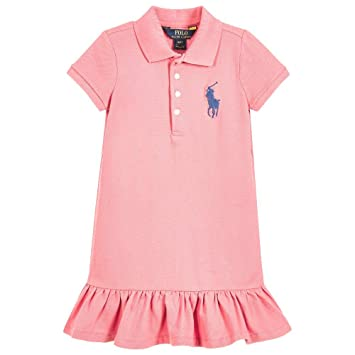a52be69ca Image Unavailable. Image not available for. Color  Ralph Lauren Girls Big  Pony Ruffle Polo Dress ...