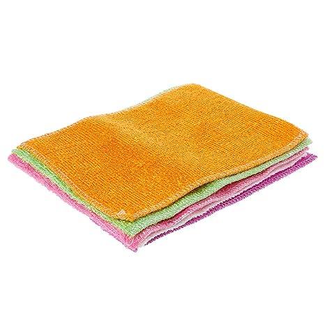 Junlinto 5 Piezas de Fibra Súper Suave para Limpiar Toallas para Lavadora Toallas Paños de Limpieza Que no se Caen: Amazon.es: Hogar