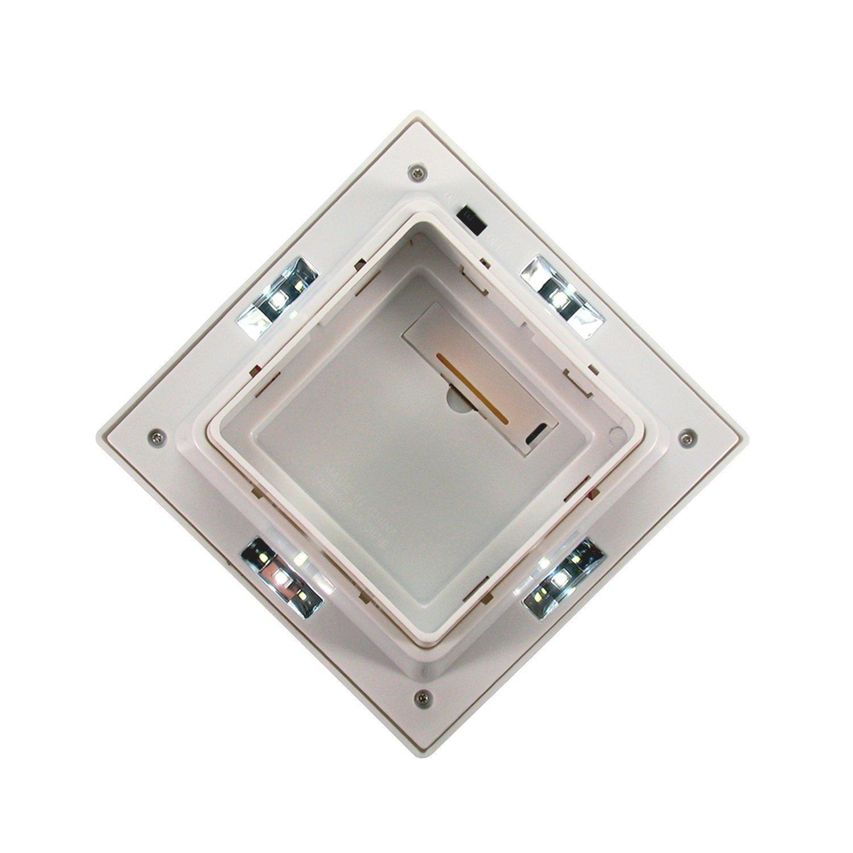 Solar Post Cap Deck Light 4x4 White Low Profile 4 SMD LEDs (2 Pack) PL251
