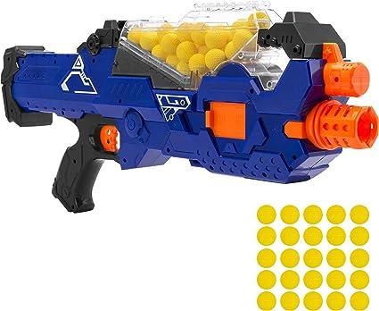 Rapid Fire Machine Gun Rifle Blaster Toy Gun Soft Bullets Kids Nerf Style