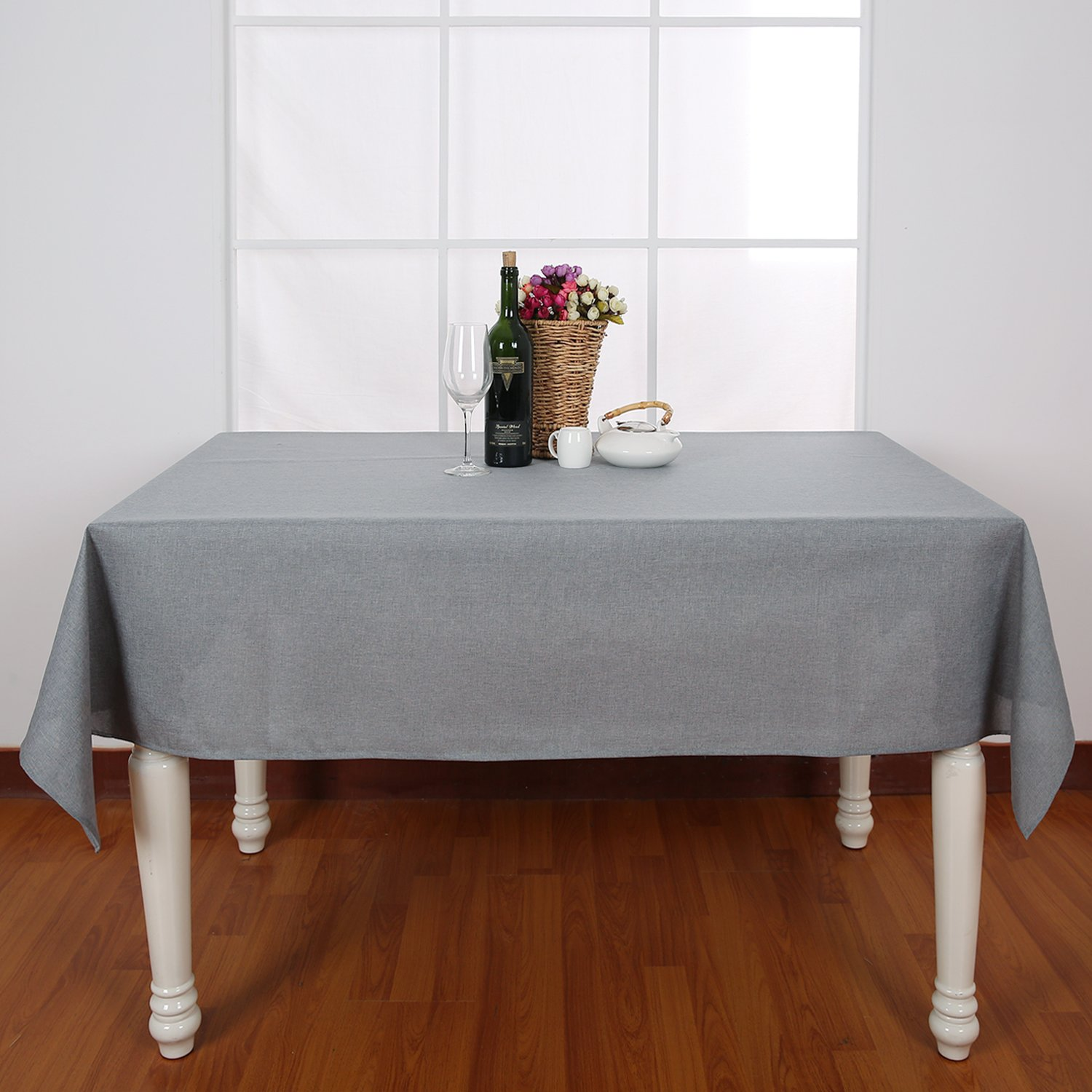 Amazon Deconovo Wrinkle Resistant Spillproof Table Cover Linen