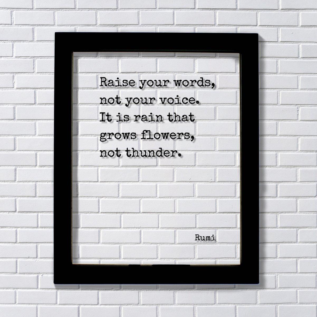 Amazon Rumi Raise Your Words Not Your Voice It Is Rain That