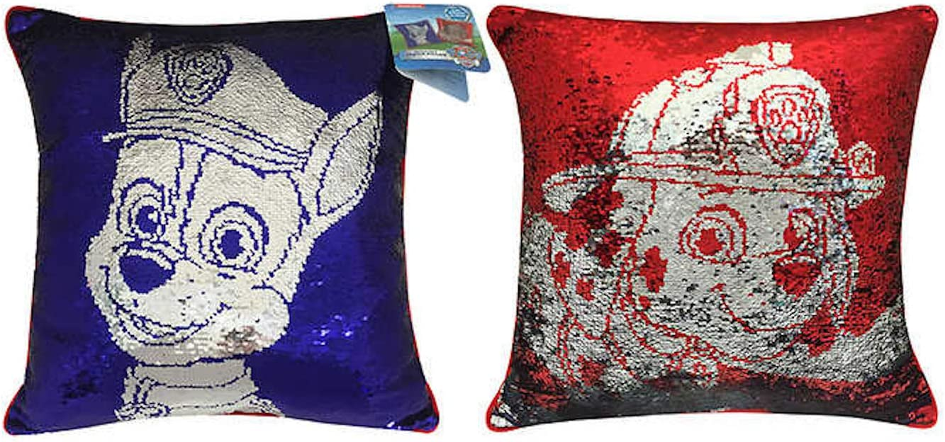 Paw Patrol Chase Marshall Reversible Sequin Throw Pillow