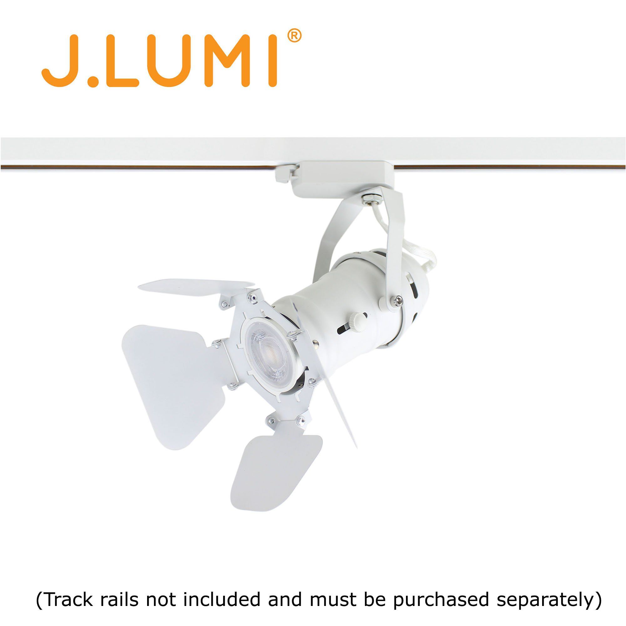 J.LUMI TRK9600W LED Track Light Fixture, Includes LED 5W Bulb | Vintage Mini Spotlight | Adjustable Tilt Angle, White Paint Finish | Compatible Rail RAL1002W (not Included) by J.LUMI (Image #6)