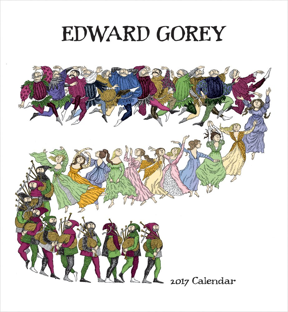 2017 Edward Gorey Wall Calendar: Edward Gorey: 9780764973659: Amazon ...