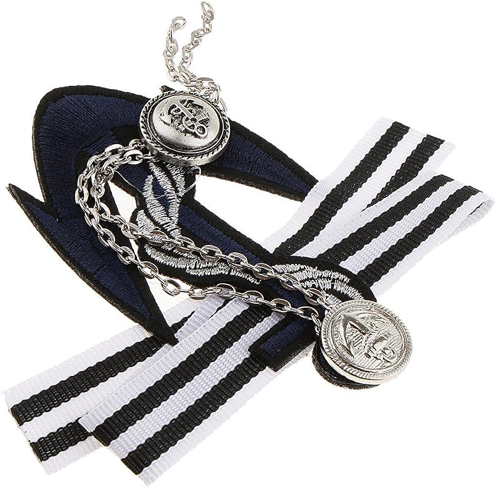 B Baosity 3pcs Femmes Hommes Bowknot Broche Pin Ruban Collier Chemise Robe Bijoux Cravate