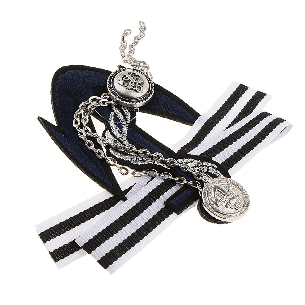 Fityle 3 Pieces Pre-Tied Bowknot Brooch Striped Fabric Bow Tie Men Wome Badge