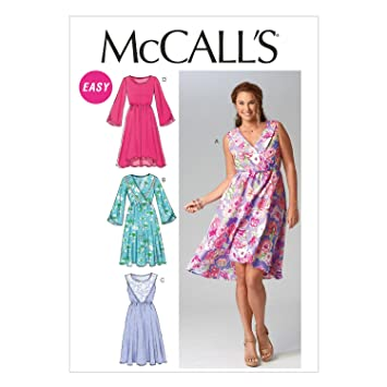 8f71d862a0b Image Unavailable. Image not available for. Color  McCall Pattern Company  M6890 Misses  Dresses Sewing Template ...