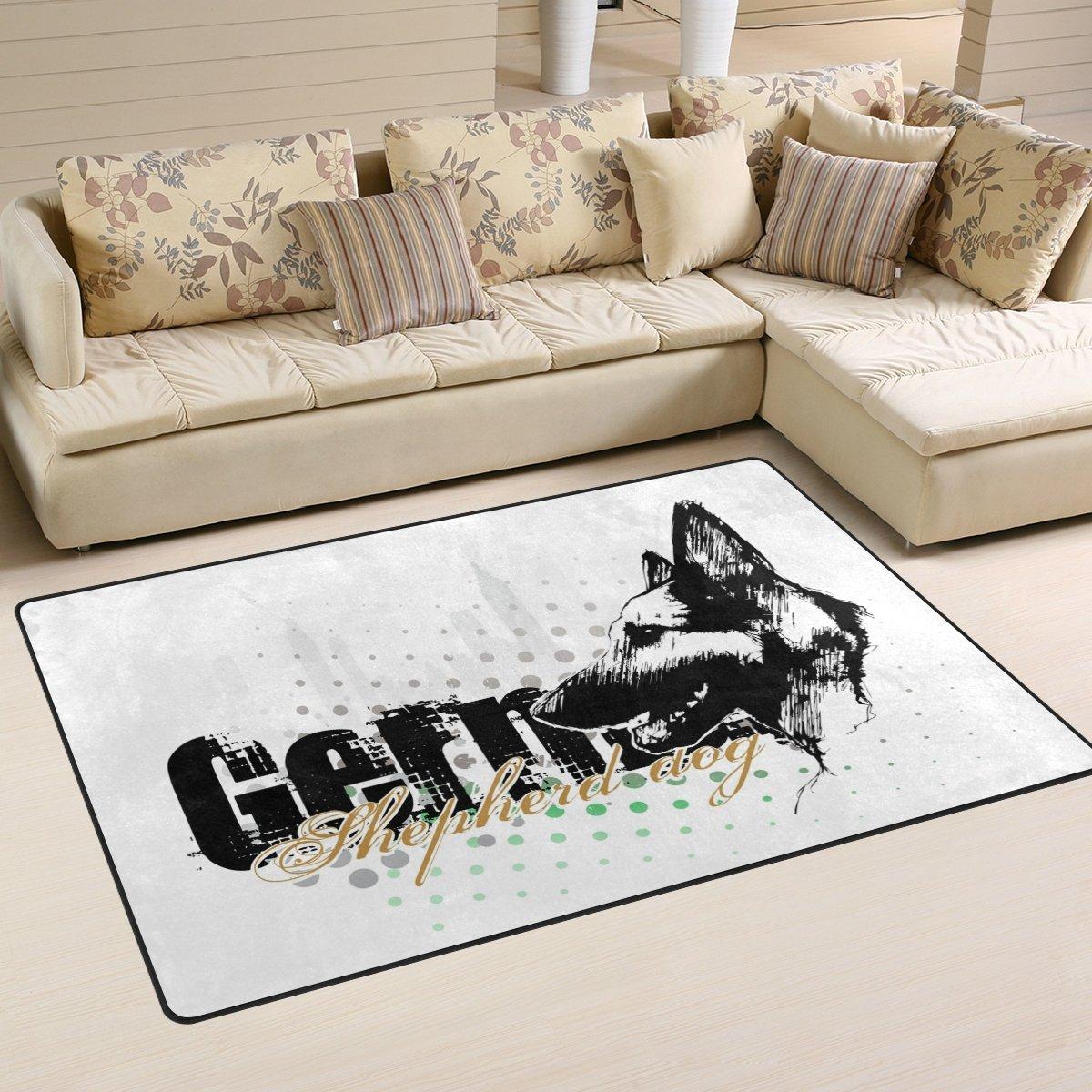 DEYYA German Shepherd Dog Area Rugs Pads Non-Slip Floor Mat Doormats for Living Room Bedroom 31 x 20 inches g1598364p146c161s240