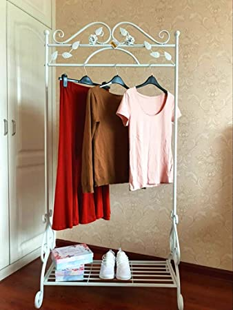 Kleiderständer Weiß Metall dipamkar weiss metall antik kleiderständer kleiderstange
