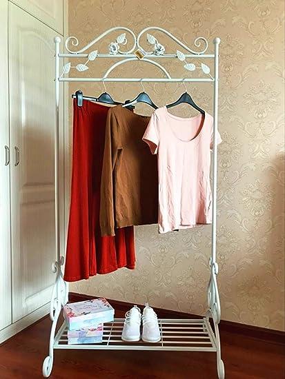 Dipamkar® Blanco vintage Barra metálica para la ropa/carril ...