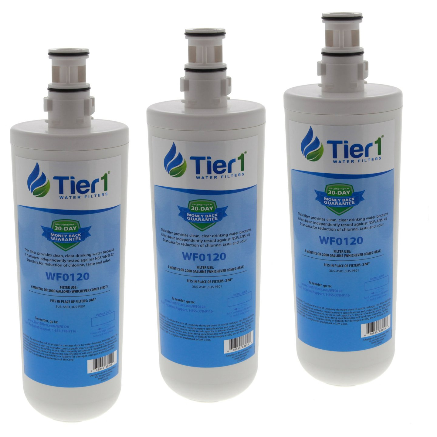 Tier1 Replacement for Filtrete 3US-AF01 Standard Water Filter 3 Pack