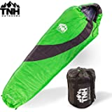 Adult Sleeping Bag By TNH Outdoors - 3 - 4 Season 0 Degree Loft Outdoor Camping Bag Waterproof Design with Zipper and Compression Bag