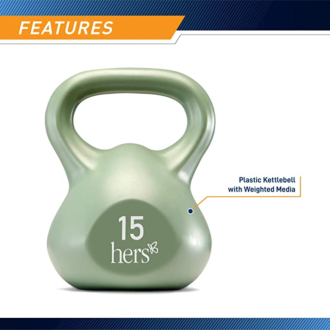 Marcy Hers Weighted Kettlebell Set for Circuit Training and Body Toning VKBS-30