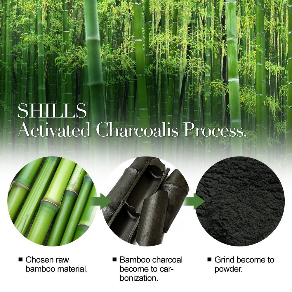 Shills Blackhead Wrinkles Anti Acne Black Mask Removes Blemishes Purifyies Cleanses Skin Activated Charcoal 50 Ml Shiblmt Masks Beauty
