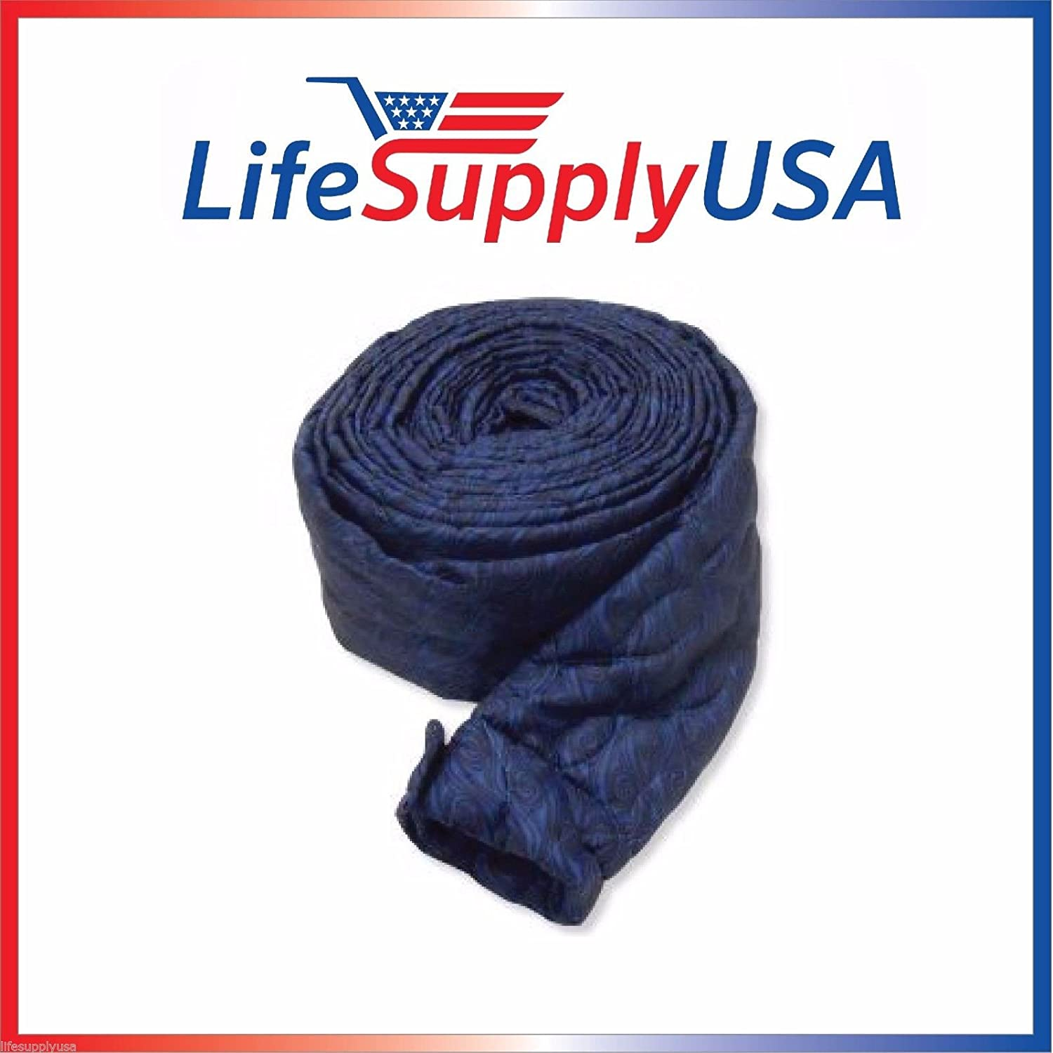 LifeSupplyUSA 35 Ft Quilted Padded Central Vacuum Hose Cover with Zipper AX-AY-ABHI-53401