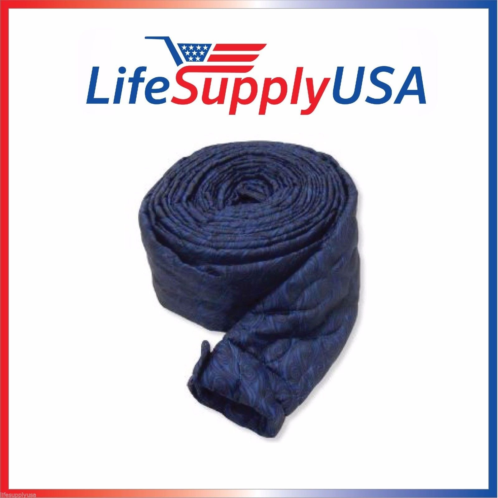 35 Ft Quilted Padded Central Vacuum Hose Cover with Zipper by LifeSupplyUSA