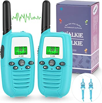 Amazon.es: Walkie Talkie Niños, PMR446 8 Canales LCD Pantalla Función VOX Rango de 3KM, Incorporado Walkie Talkie Niñas Regalo para Niños(2 pack)