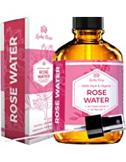 Rose Water Facial Toner by Leven Rose, Pure Organic Natural Moroccan Rosewater Hydrosol Face Spray 118 ml