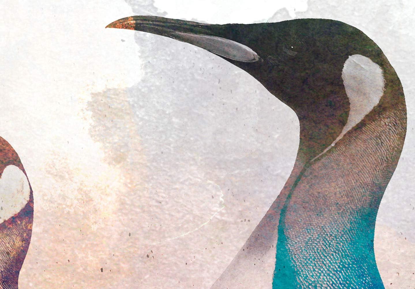 murando Impression sur Toile intissee Pingouin 100x40 cm 5 Parties Tableau Tableaux Decoration Murale Photo Image Artistique Photographie Graphique Beton Animal comme Peint g-C-0265-b-m