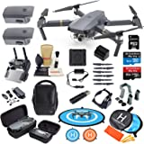 DJI Mavic Pro Drone Quadcopter Fly More Combo with 3 Batteries, 4K Professional Camera Gimbal Bundle Kit with Must Have…