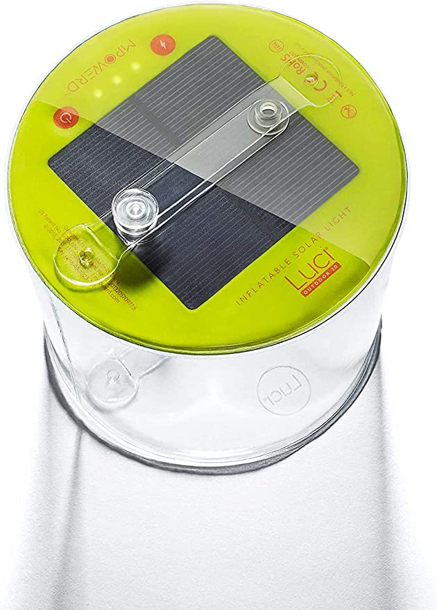This is an inflatable solar light