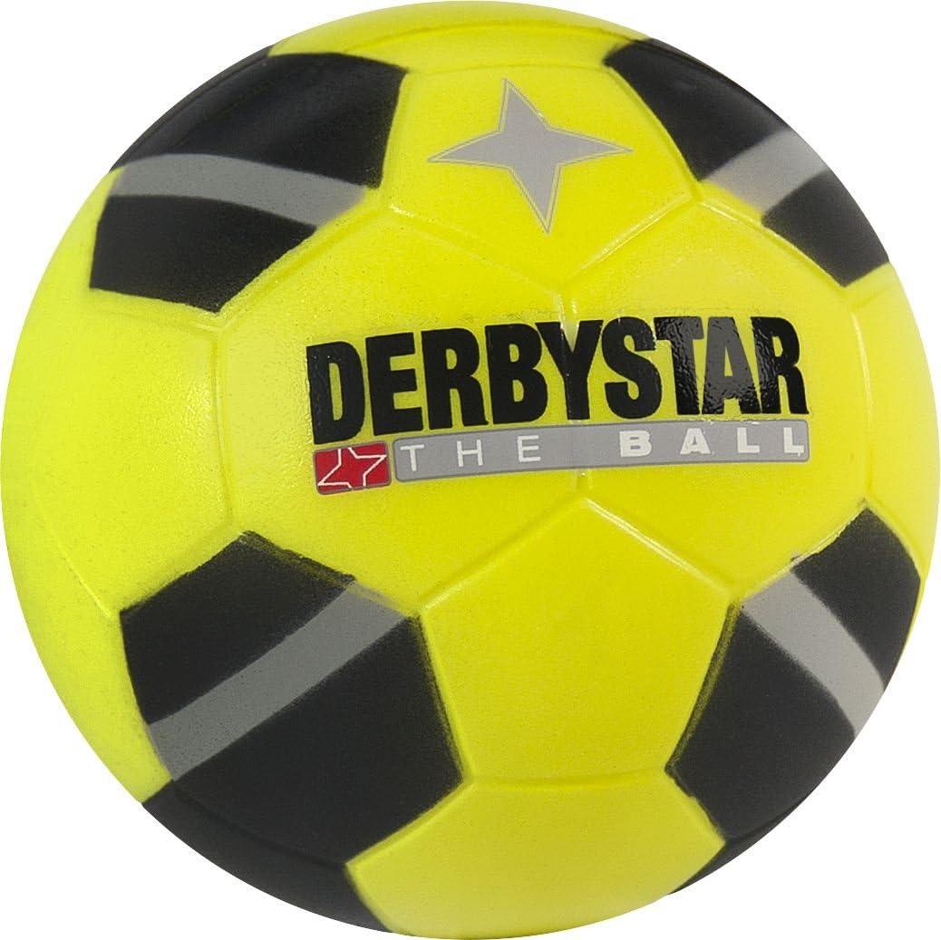 Derbystar Minisoft - Balón de fútbol, color negro