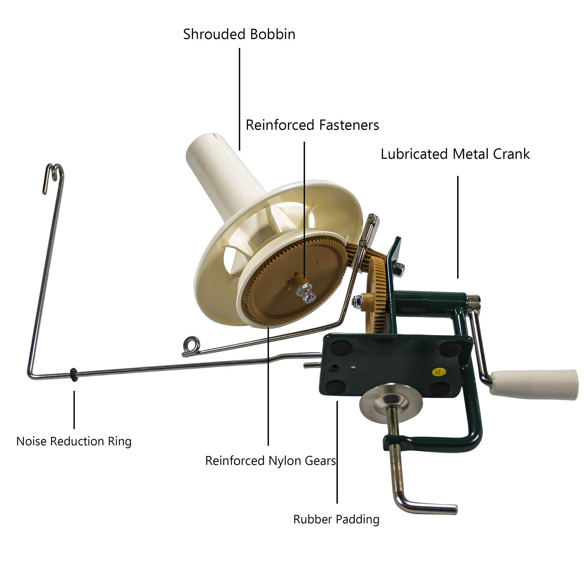Stanwood Needlecraft Large Metal Yarn/Fiber/Wool/String Ball Winder, 10-Ounce by Stanwood Needlecraft (Image #3)