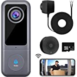 WiFi Video Doorbell Camera, XTU Doorbell Camera with Chime, 2K Ultra HD, 2-Way Audio, Cloud Storage and 32GB SD Card Included