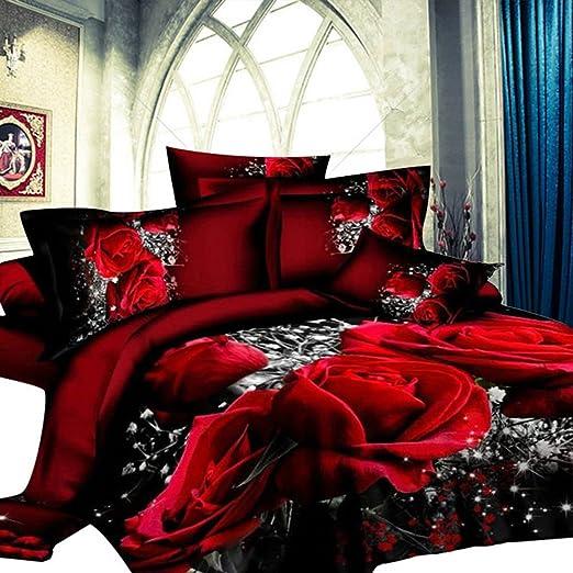 Pink Floyd 3D Bettwäsche Set Bettbezug Kissenbezug und Bettdecke 2//3pc Schlaf O