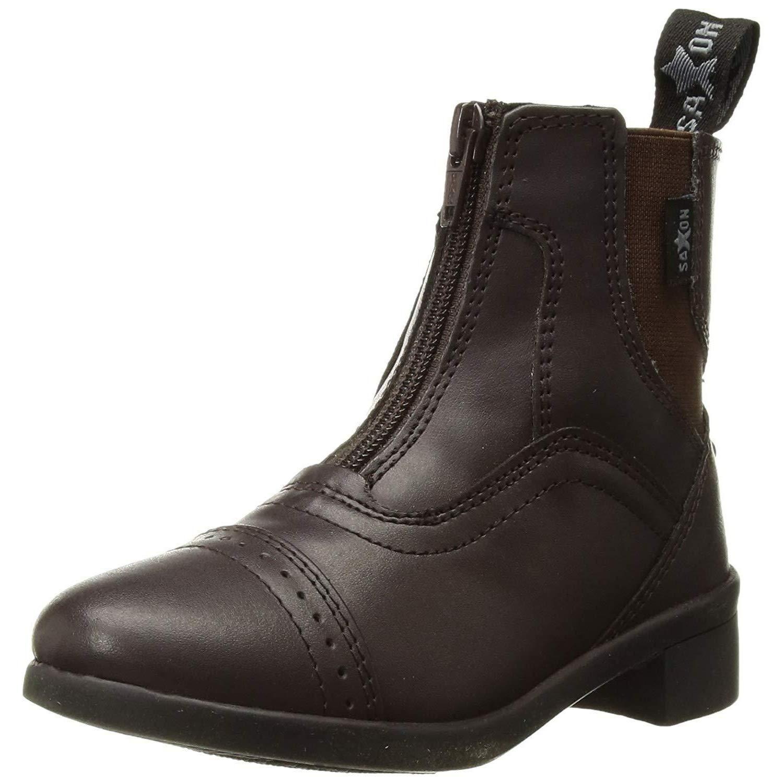 Saxon Childrens/Kids Syntovia Zip Paddock Boots (1 M US Little Kid) (Brown)