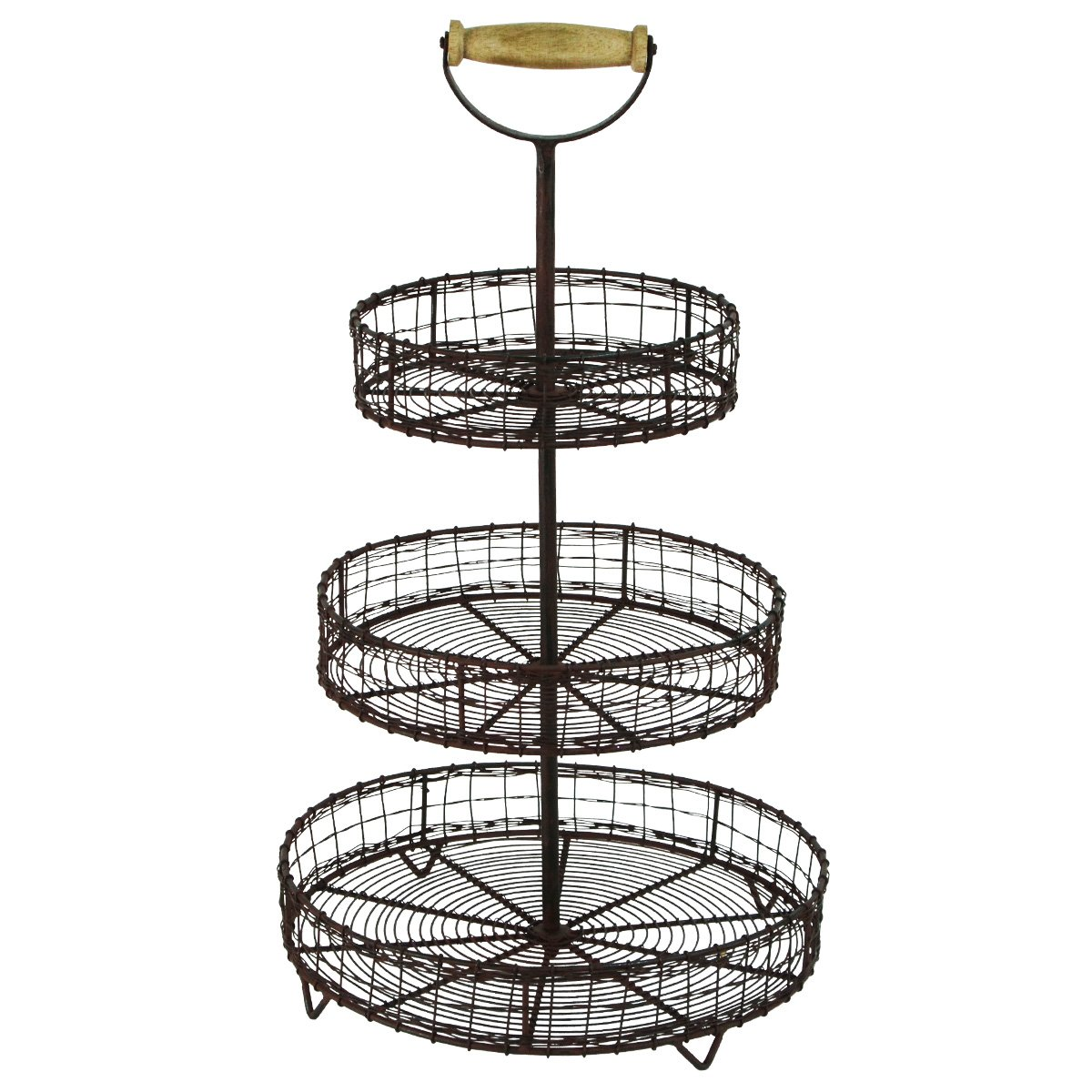 Amazon.com: Antique Style Metal Wire 3 Tier Rack Display Stand ...