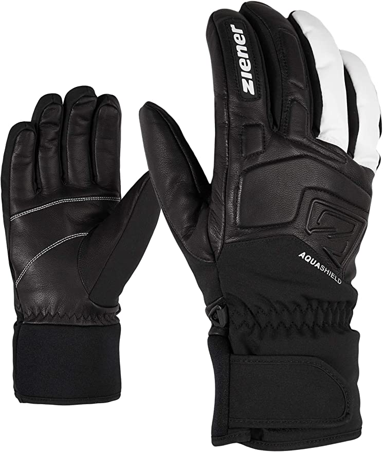 Ziener Adult GLYXUS AS Alpine Ski Gloves, Winter Sports Gloves, Waterproof & Breathable, White, Size 10, white, 6.5: Amazon.de: Bekleidung