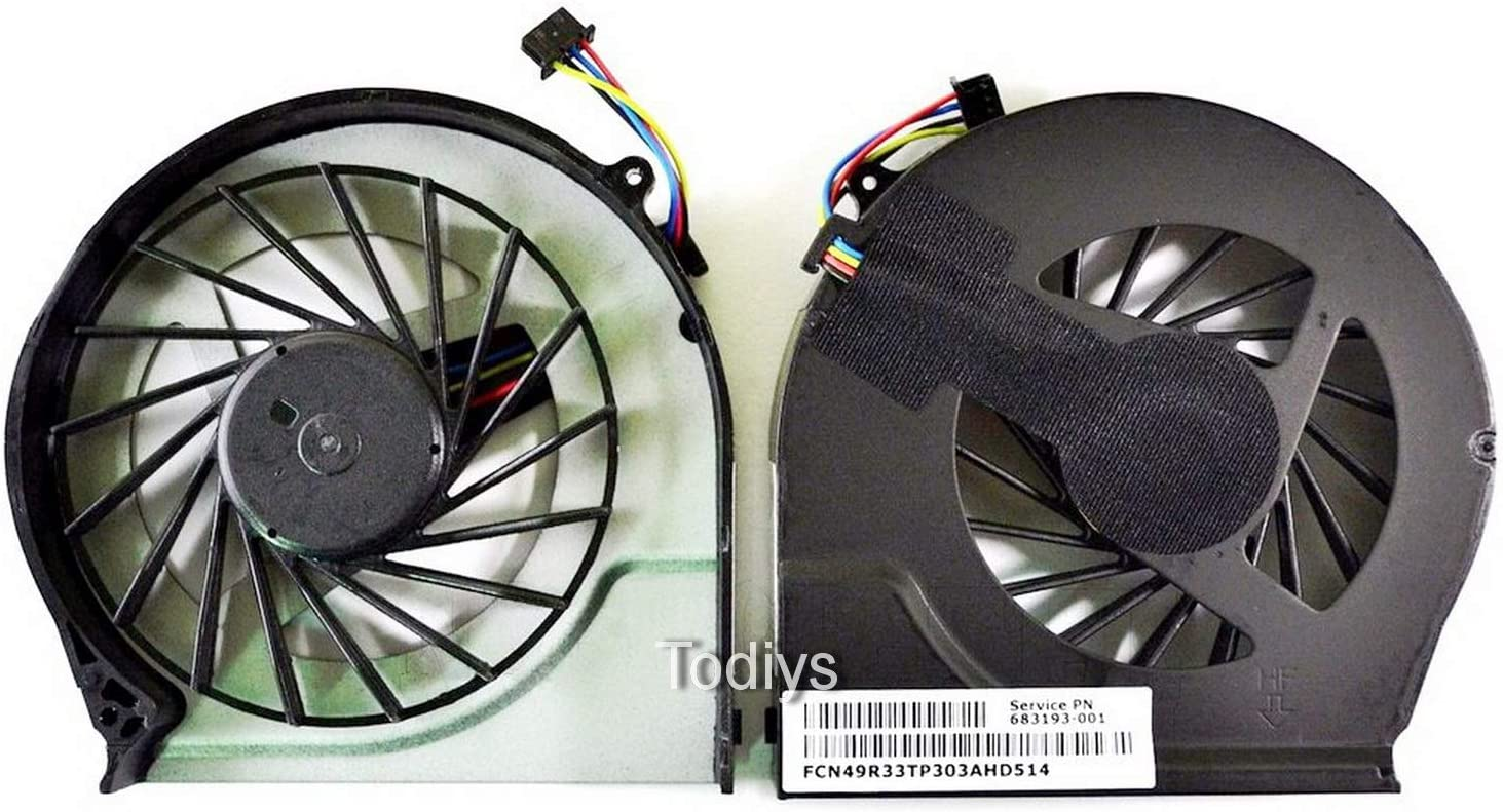 Todiys CPU Cooling Fan for HP Pavilion G7-2200 G7Z-2200 Series G7-2215DX G7-2217CL G7-2220US G7-2221NR G7-2233CL G7-2234CA G7-2235DX G7-2275DX G7-2279WM G7-2281NR G7-2297NR G7-2298NR 683193-001