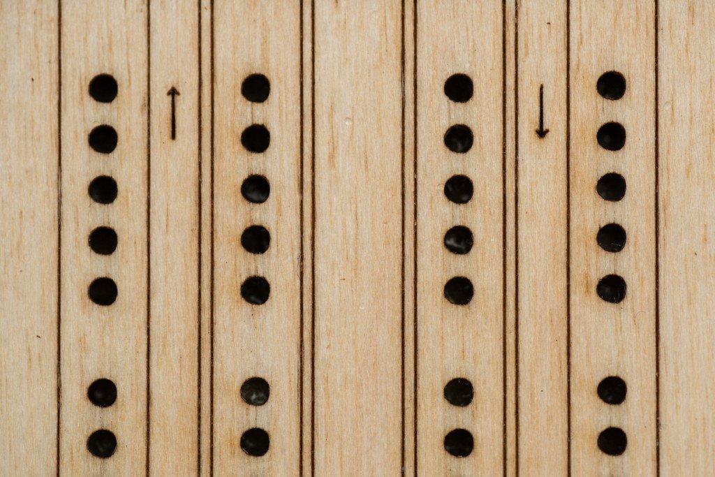 Walnut Studiolo Travel Cribbage Board Birch Plywood with Dark Brown Leather by Walnut Studiolo (Image #5)