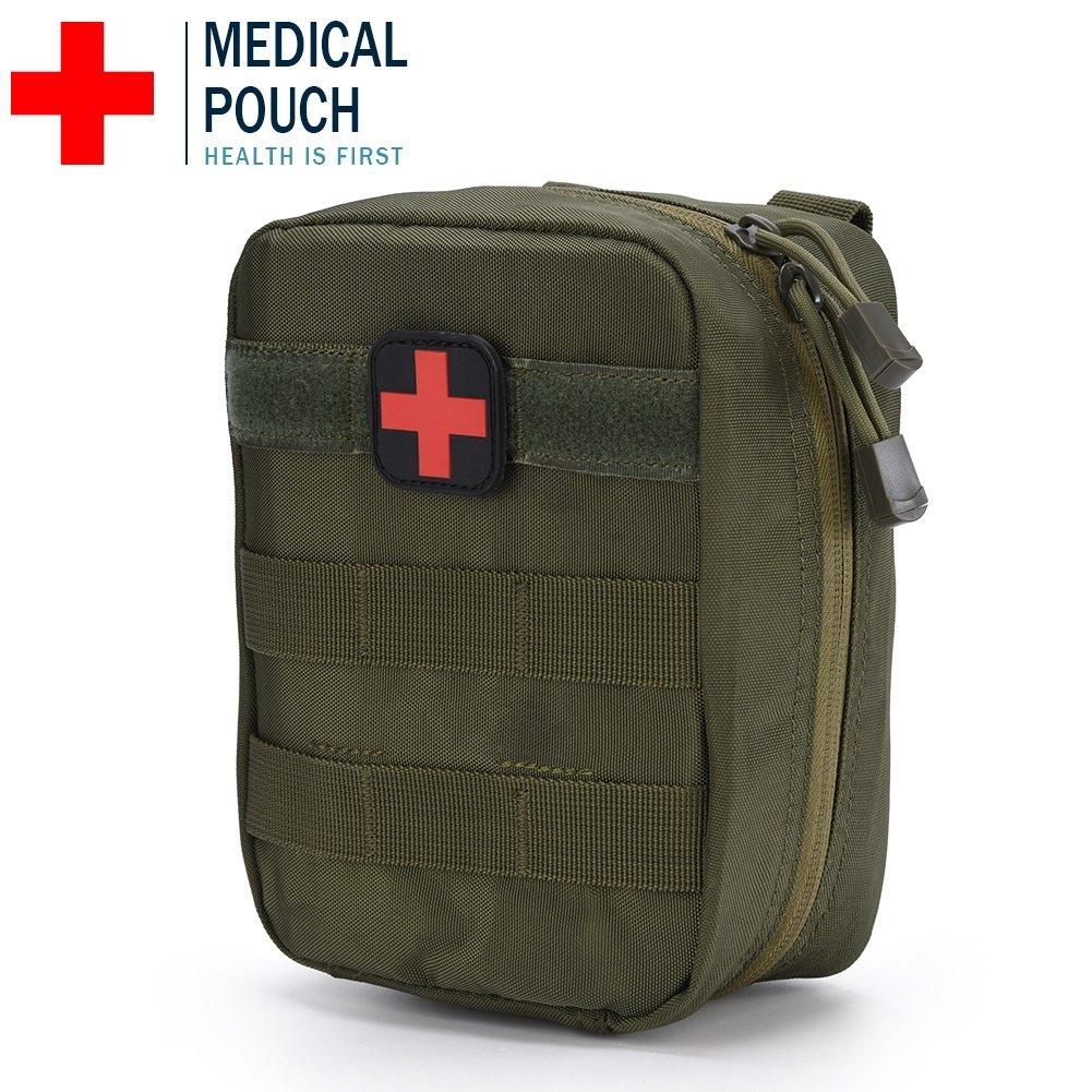 Bolsa de Primeros Auxilios de Supervivencia al Aire Libre MOLLE Bolsa de Emergencia de Escalada RENOVADA ( Color : Rojo ) VGEBY