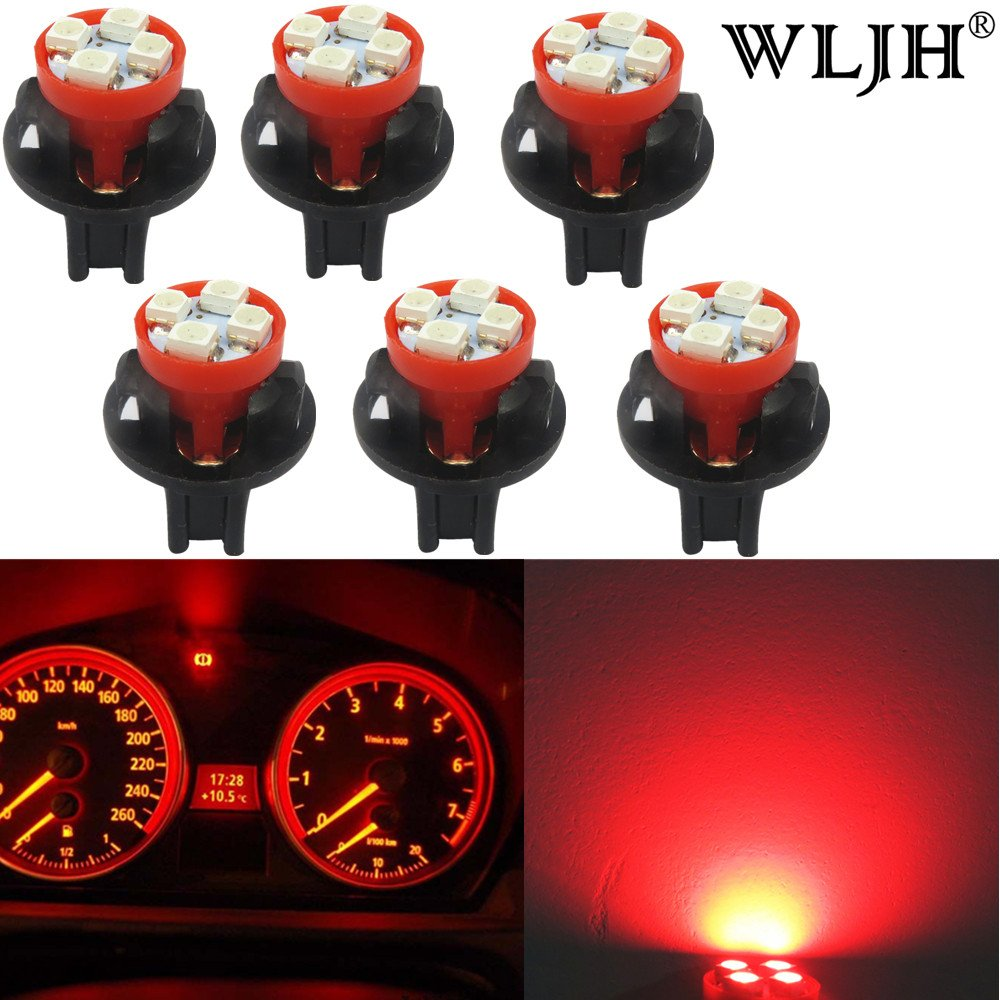 WLJH 6x T10 194 LED Light Bulb 168 W5W Wedge LED Bulbs Instrument Panel Gauge Cluster+Twist Lock Socket for Toyota Nissan isuzu Ford, Yellow
