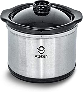 Ateken 0.65 qt slow cooker warmer