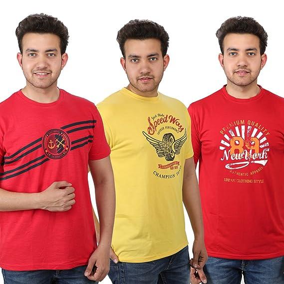 9c522e00736 Rock Tiger Printed Stylish Men s Cotton T-Shirt For Men Pack Of 3 ...
