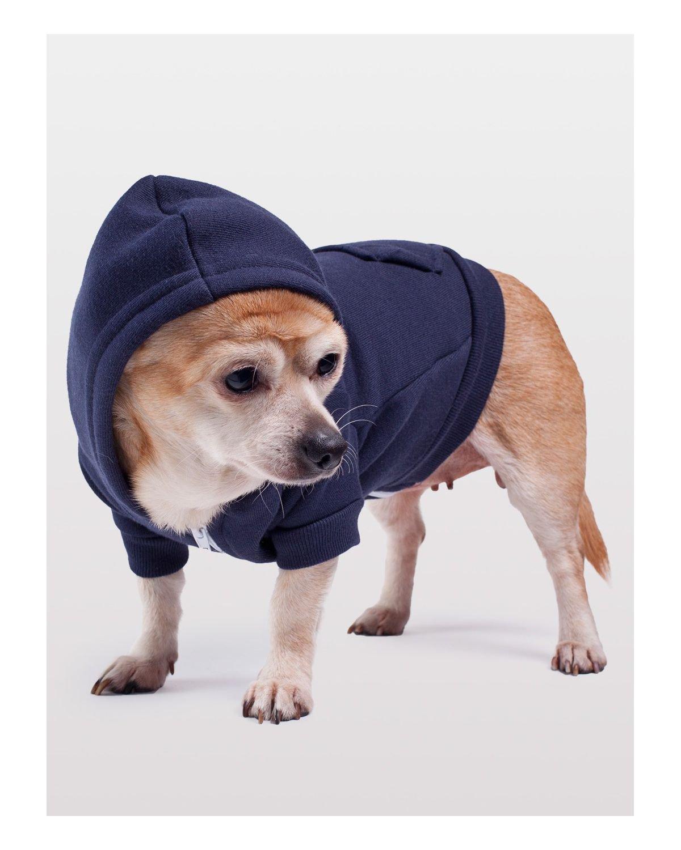 American Apparel Flex Fleece Dog Zip Hoodie - Navy / M
