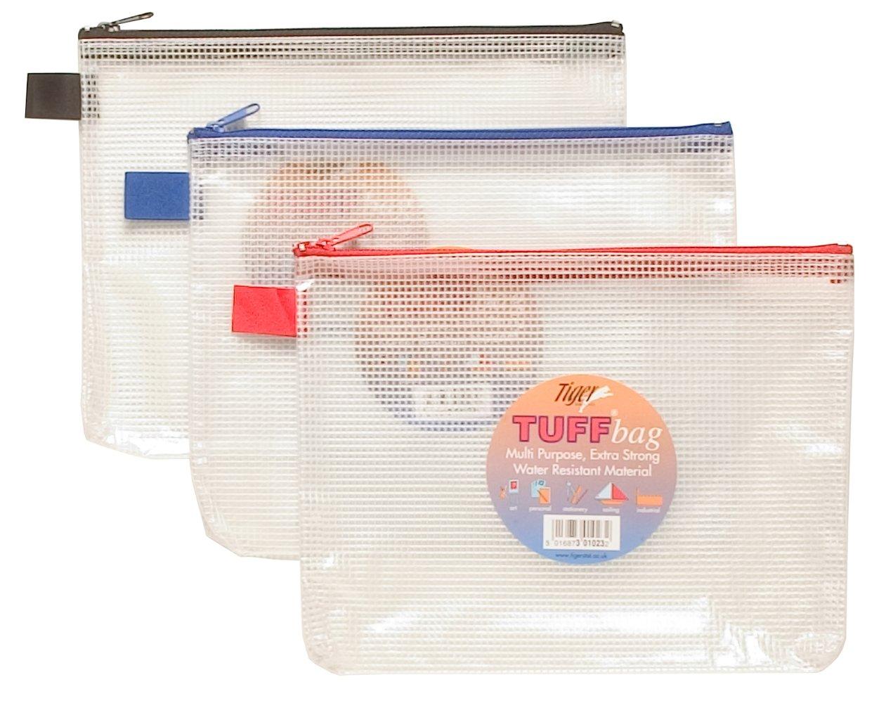 12 x A5 Tuff Bag für Schule Wasserdicht Wasserdicht Wasserdicht Aufbewahrung Robust Federmappe mit Zip Wallet 5e9060