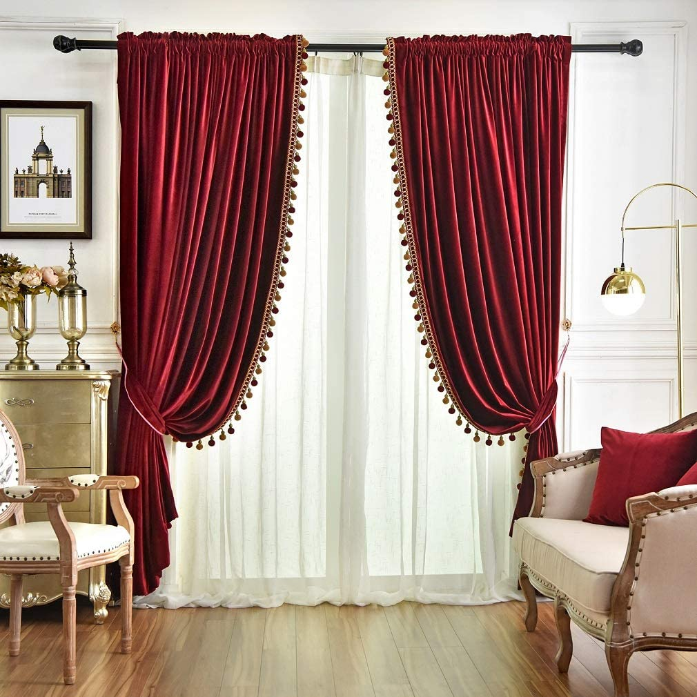 Best Burgundy And Gold Curtains Living Room Your Kitchen