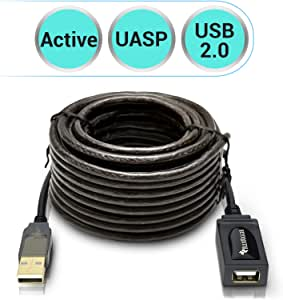 60ft Active//Amplified USB 2.0 Extension Camera//Webcam//Printer Cable Male-Female