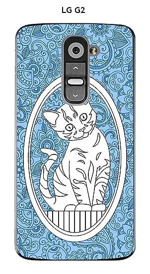 Onozo Carcasa LG G2 Design gato de diseños fondo azul ...