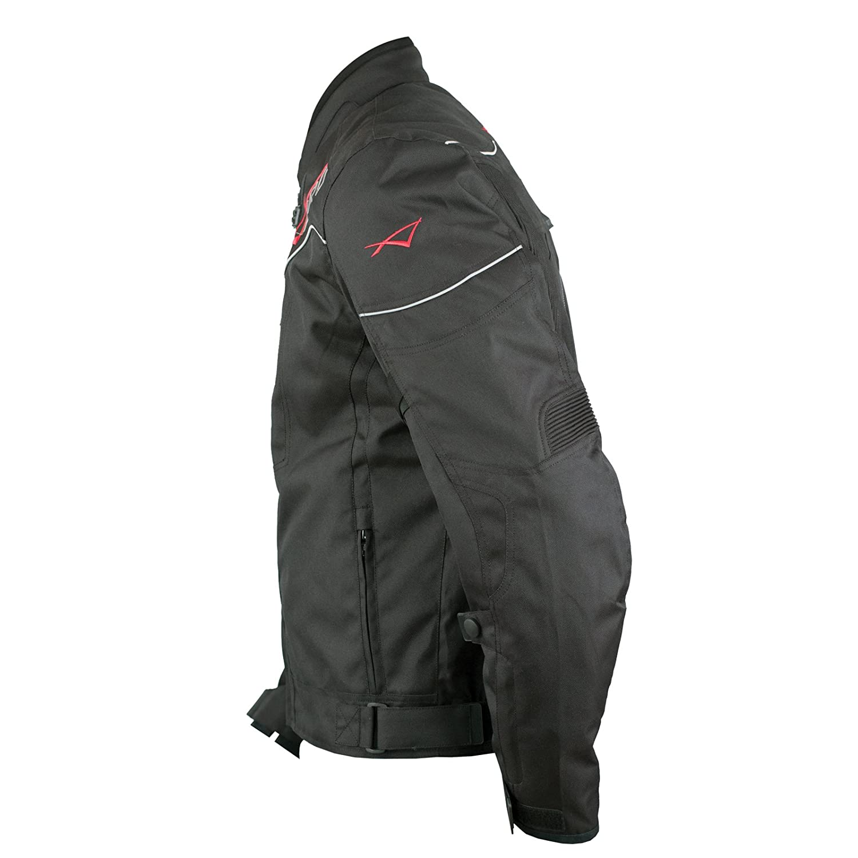 A-pro Textile Blouson Moto Protections CE Respirant R/éfl/échissant Noir 3X