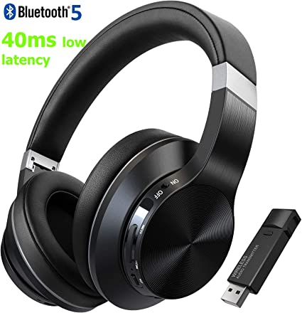 Amazon Com Toksel Wireless Gaming Headphones Headset Set W Noise Cancelling Microphone Bluetooth Usb Audio Dongle For Pc Ps4 Nintendo Switch Chat Music Simultaneously 40ms Low Latency 15hrs Play Time Home Audio